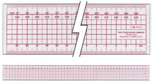 C-Thru® Metric Grid Ruler Millimeter & Centimeter Scales