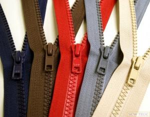 #5 Molded Plastic Zippers choose from many color and sizes