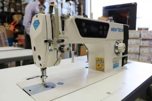 New-Tech GC-8700D Single Needle Lockstitch Industrial Sewing Machine With Table and Built In Direct Drive Servo Motor