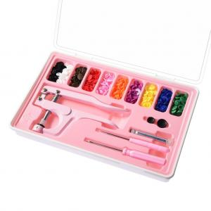 Plastic Snap Fastener Kit In Storage Case With 100 Snap Sets In Rainbow Colors