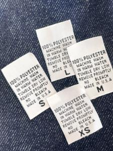 Clothing Care Labels - 100% Polyester