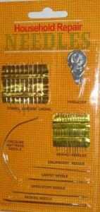 Household Repair Needles, Sewing Needles And Threader Set (27 pc)