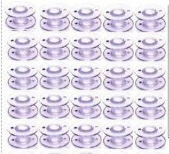 10 Pack Standard Clear Plastic Class 15 Bobbins (SA156)