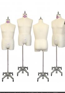 Industry Grade Mature Men Half Body Dress Form with Legs #607A