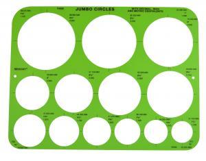 Westcott Jumbo Circles Template (T-826)