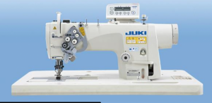 JUKI LH-3588A Semi-dry-head, 2-needle Organized Split Needle Bar Lockstitch Industrial Sewing Machine With Table and Servo Motor