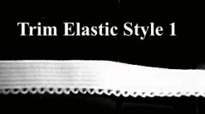 Decorative White Elastic Trim (by yard)