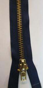 #10 Heavy Duty Jacket Zippers, Brass Finish