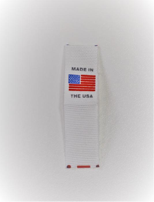White Printed Made In Use Flag Clothing Tags