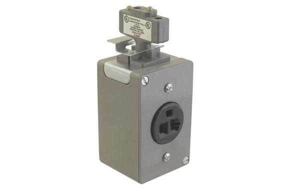 Electro-Rail - Plug In Jack With B & Recpt 2 Pole 15 AMP #ERS352C​