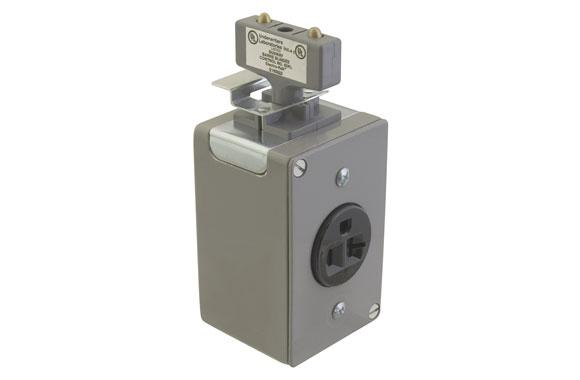 Electro-Rail - Plug In Jack With B & Recpt 2 Pole 15 AMP #ERS-41P