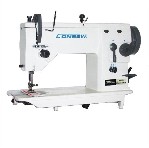 Consew CN2053R-2A​ 3 Step Zig-Zag Lockstitch Industrial Sewing Machine With Table and Servo Motor
