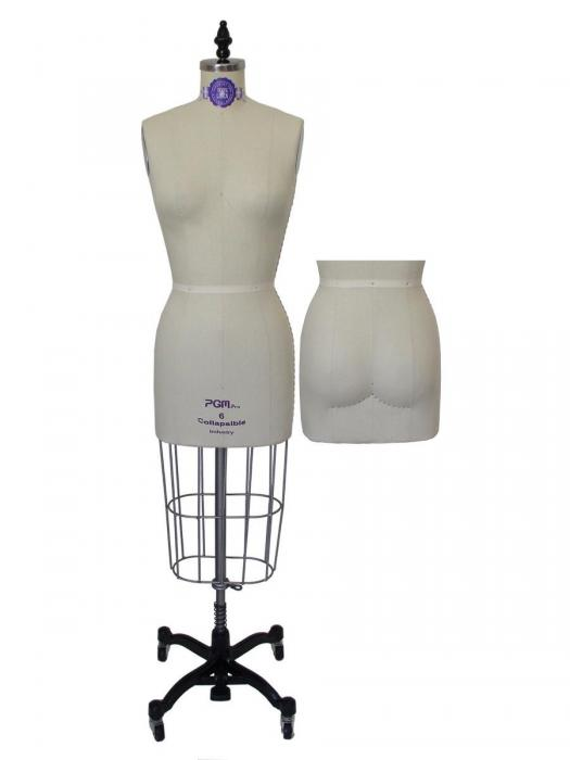 Ladies Dress Form with Hip Non-Collapsible Shoulder ( 601A )