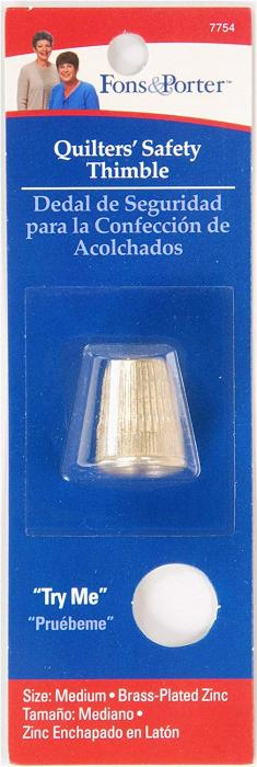 Fon & Porter Quilters' Safety Thimble, Medium