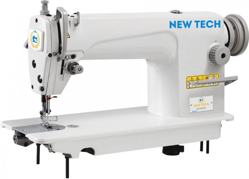 New-Tech GC-8700 Single Needle Lockstitch Industrial Sewing Machine With Table and Servo Motor
