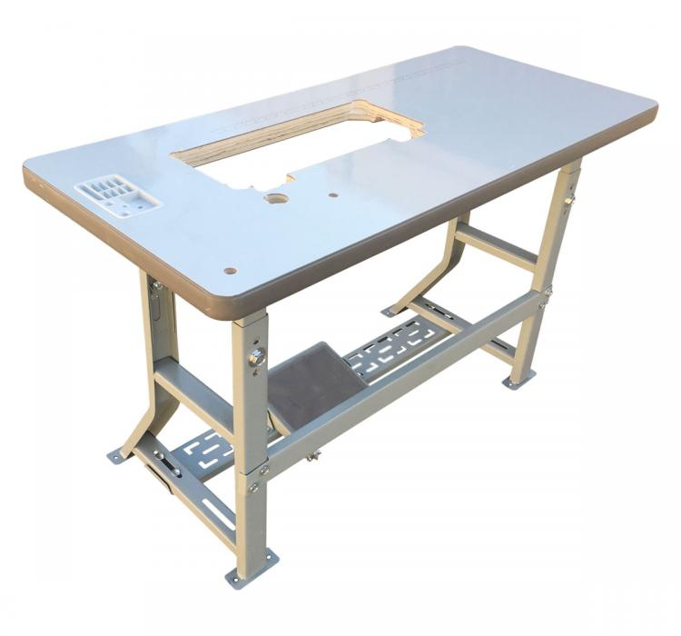 Industrial Sewing Machine Table With K-Leg Table Frame Assembly