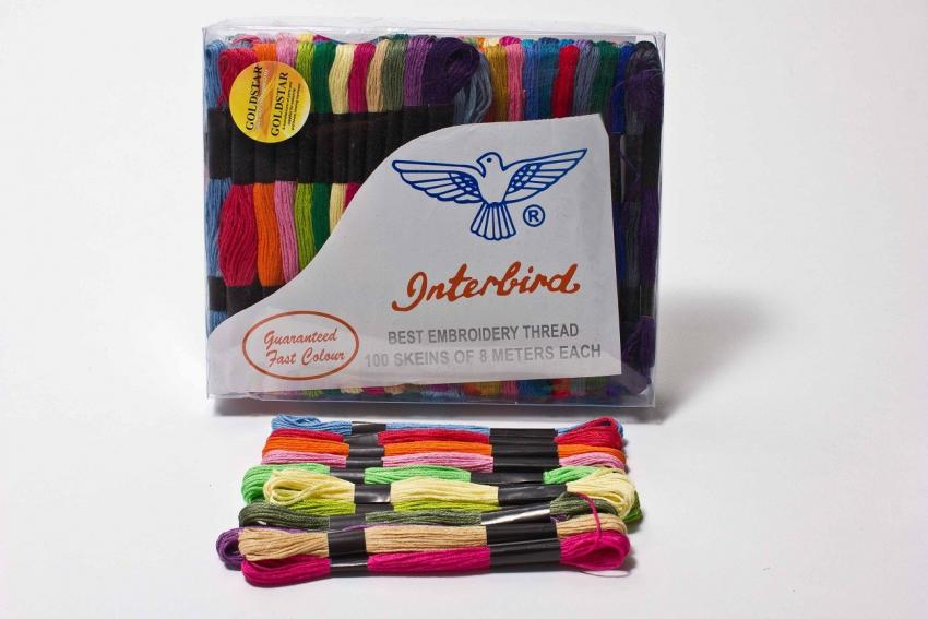 Embroidery Floss - ASSORTED COLORS (100 skeins)