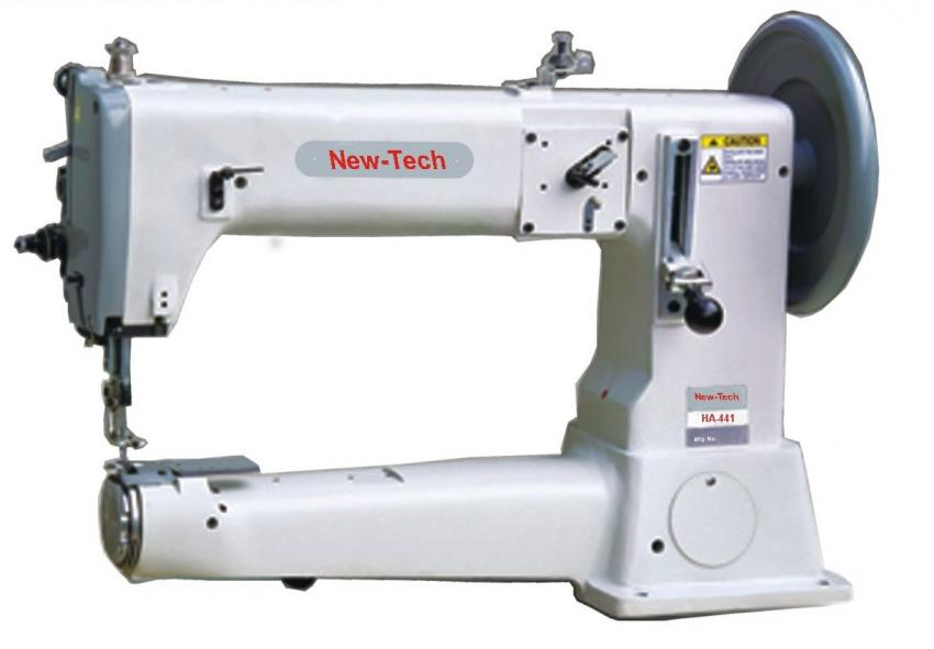 New-Tech HA-441 Extra-Heavy-Duty, Single Needle, Cylinder Bed Compound Feed - Walking Foot Industrial Sewing Machine With Table and Servo Motor