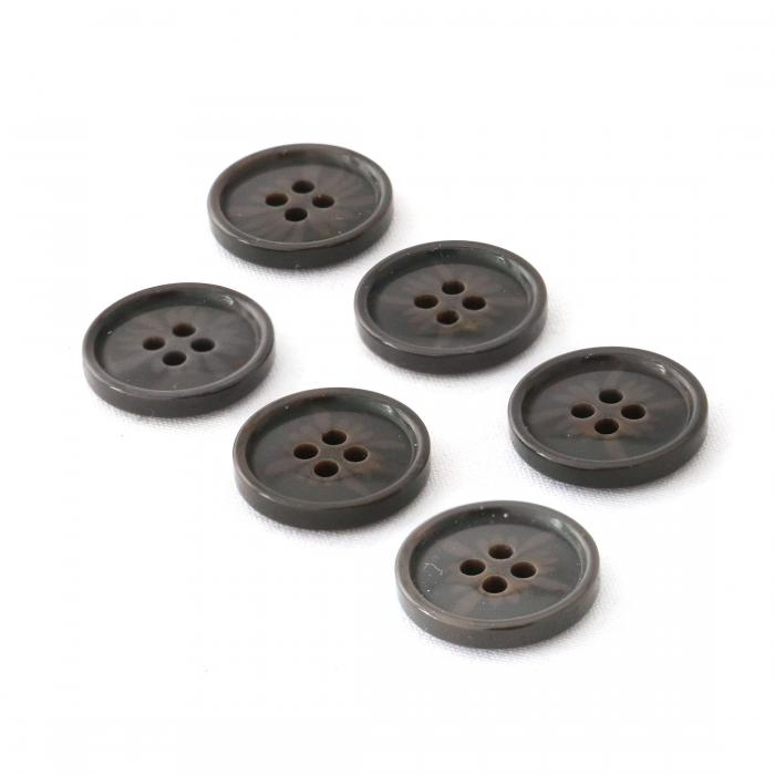 Brown With Design Resin Buttons