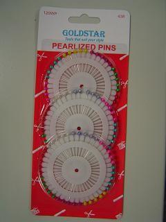 Pearlized Head Pins Variety (120/pack)