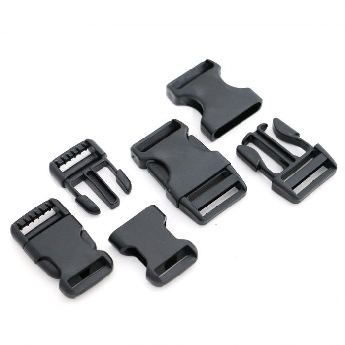 Side squeeze plastic buckles