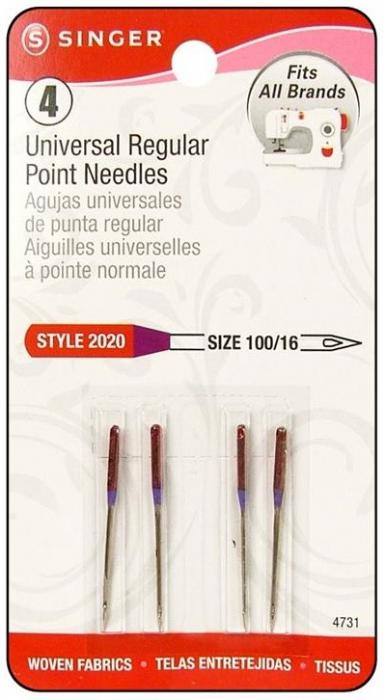 Singer Machine Needle Regular Point Size 16 4pc