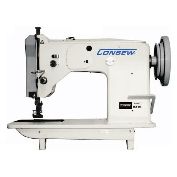 Consew SKZ-6-3 Heavy Duty Single Needle Drop Feed Zig-Zag Lockstitch Industrial Sewing Machine With Table and Servo Motor