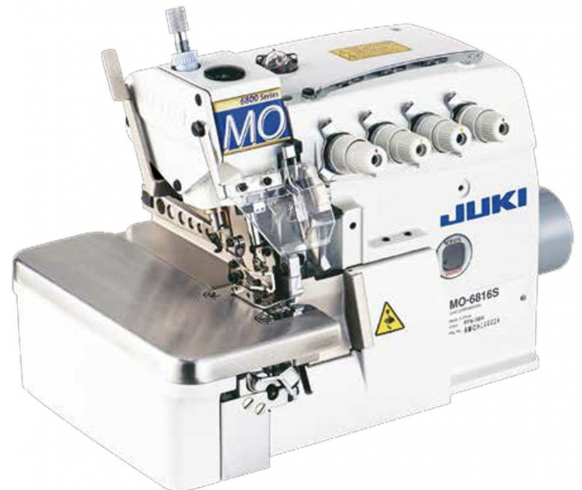JUKI MO-6843S 6-Thread High-speed Overlock Safety Stitch Industrial Serger With Table and Servo Motor