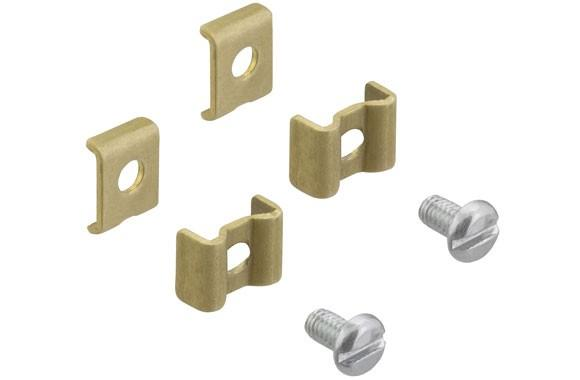 2-TERMINAL CLIPS W/GUIDES & SCREWS