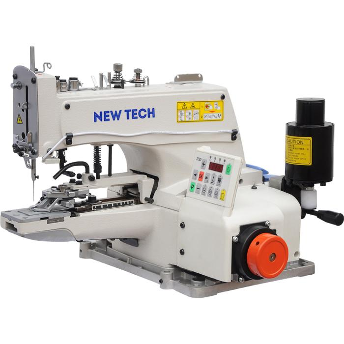 New-Tech GC-1377D​ Chainstitch Button Attaching Industrial Sewing Machine With Table and Direct Drive Motor