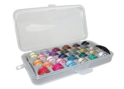 28 Bobbin Organizer Box with Fitted Foam