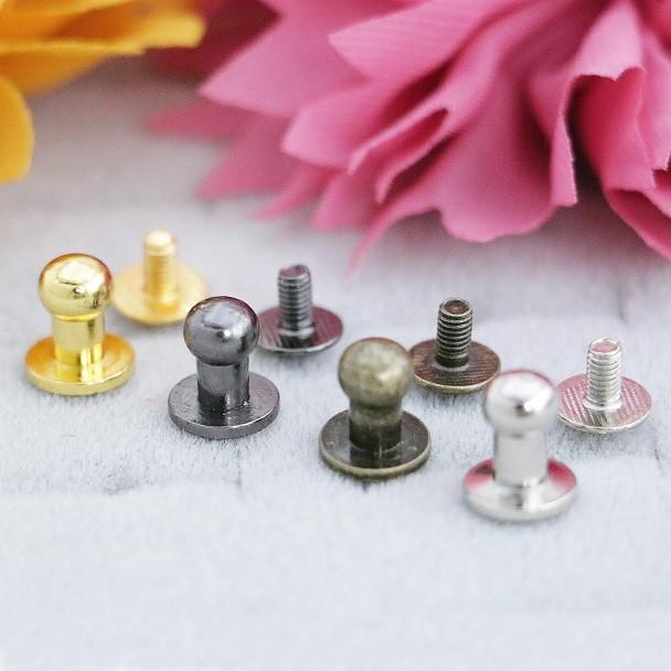 Sam Browne Button Stud & Screw