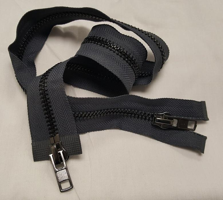 Two-Way (Double or Dual) #8 Metal Zippers