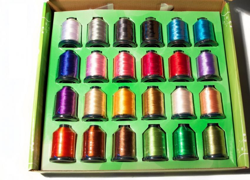 Embroidery Thread Package ASSORTED COLORS (24 spools)