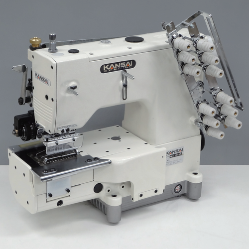 ​Kansai Special FBX-1104PR 4 Needle Waistband With Puller Industrial ​Industrial Sewing Machine With Table and Servo Motor​