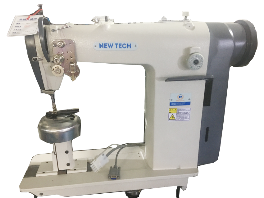 New-Tech GC-8810DW Direct-Drive High-Speed Single Needle Post Bed With Special Spherical Needle Area Lockstitch Industrial Sewing Machine With Table and Servo Motor