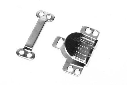 Trouser / Skirt Hooks & Bars NICKEL (24 sets)