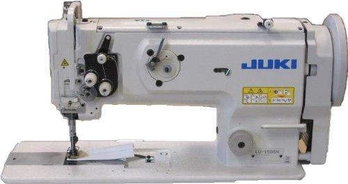 JUKI LU-1508NS Heavy Duty Single Needle Unison Feed Lockstitch Machine With Vertical-axis Large Hook, Table, and Servo Motor