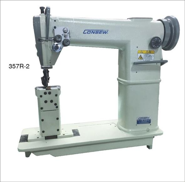 ​Consew 357R-2 High Speed, Post Bed, 2 Needle, Drop Feed, Lockstitch Industrial Sewing Machine With Table and Servo Motor