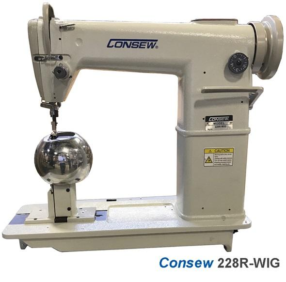 ​Consew 228R-WIG​​ High Speed, Post Bed, 1 Needle, Drop Feed, Lockstitch Industrial Wig and Hat Sewing Machine​