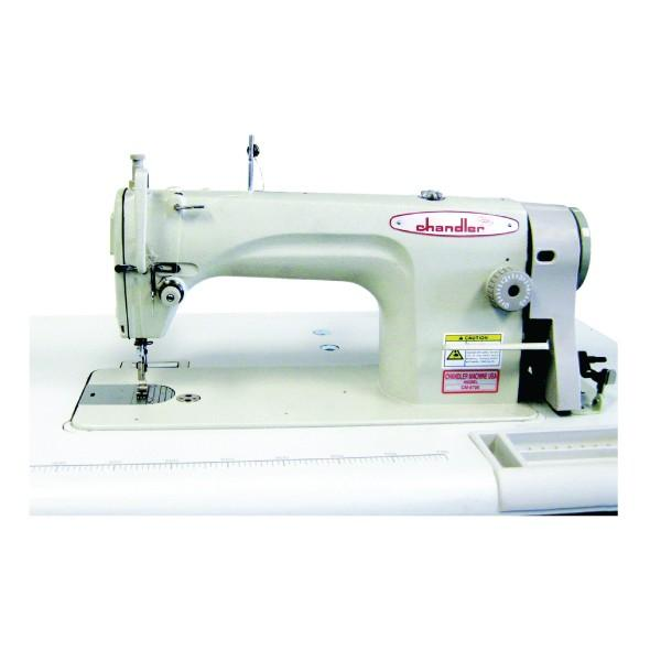 Consew Chandler Model CM8700 & CM8718 Single Needle High Speed Lockstitch Industrial Sewing Machine With Table and Servo Motor