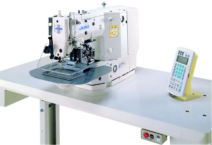 JUKI LK-1910 Computer-Controlled, High-speed Shape-Tacking Industrial Sewing Machine With Table and Servo Motor