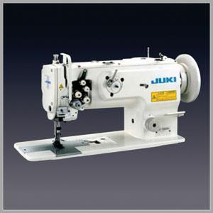 JUKI LU-1560N 2 Needle Unison Feed Lockstitch Industrial Sewing Machine With Table and Servo Motor