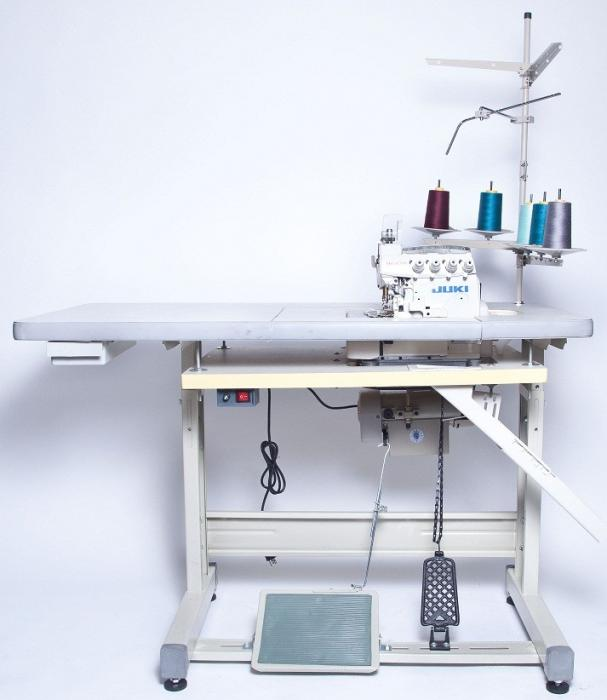JUKI MO-6814S 4-Thread Overlock Industrial Sewing Machine With Table and Servo Motor