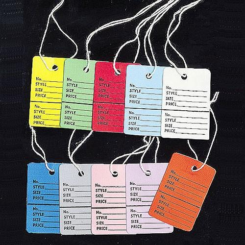 2 part Merchandise Price Tags WITH STRING (100 pc)