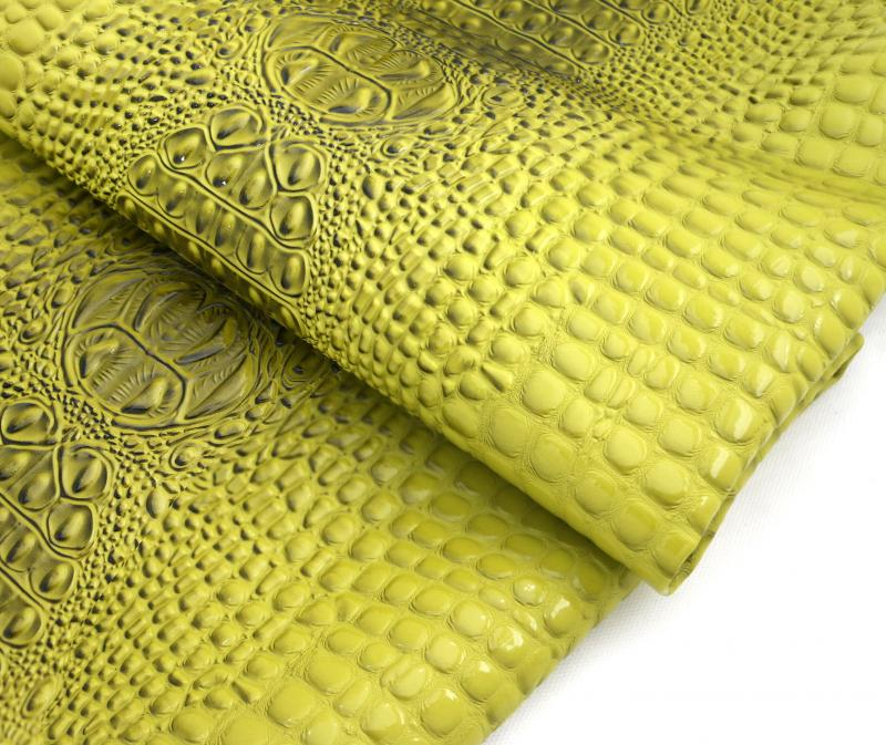 Crocodile Vinyl Faux Leather Upholstery Fabric By The Yard
