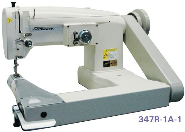 Consew 347r 1a 1 Single Needle Drop Feed Feed Off The Arm Cylinder Bed Zig Zag Lockstitch Industrial Sewing Machine With Table And Servo Motor Goldstar Tool