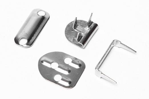 2 Sets of sew on trousers skirts hooks and bars eyes fasteners silver or black