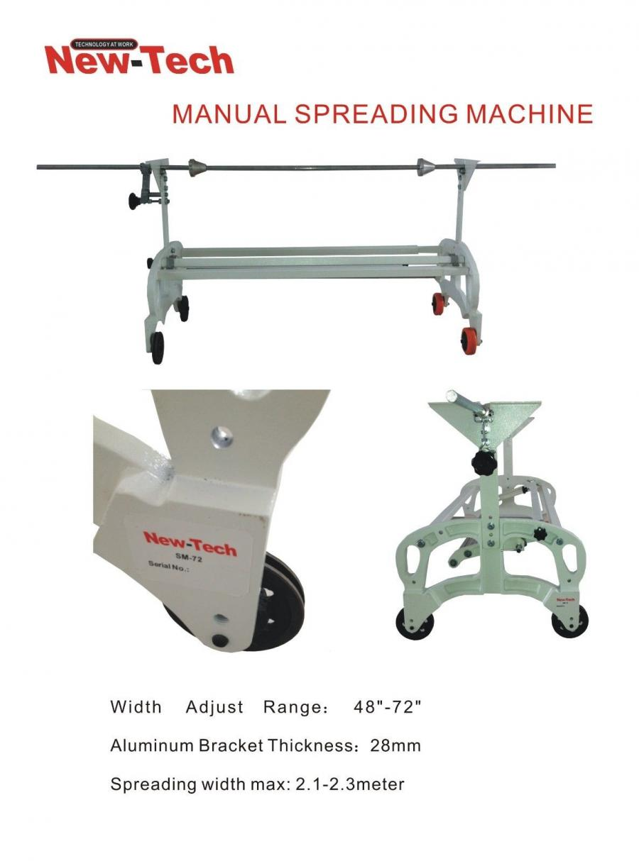 Cloth Spreader Manual Expandable Cutting Machines